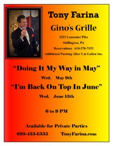 Gino's May & June Dates